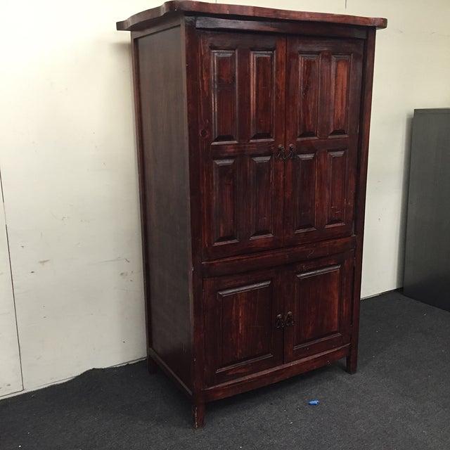 Mahogany Solid Wood 4 Door Armoire - Image 4 of 7