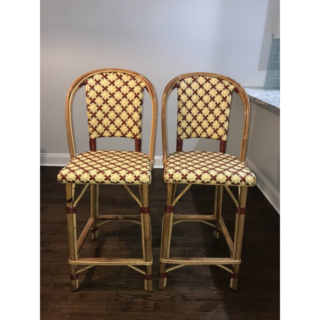 Maison Drucker French Bistro Bar Stools - A Pair - Image 2 of 7