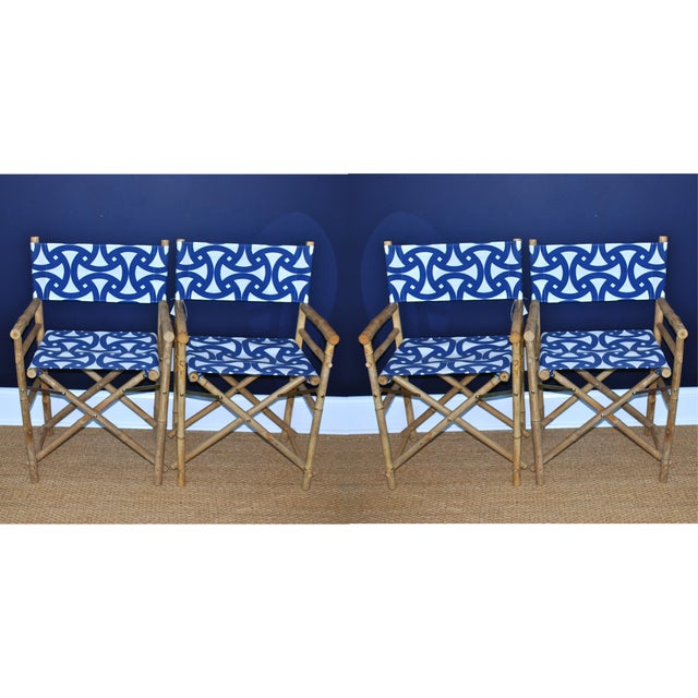 Bamboo Director's Chairs - Set of 4 - Image 2 of 7