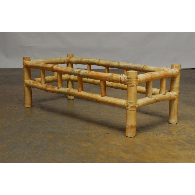 Ralph Lauren Attributed Bamboo Coffee Table Chairish
