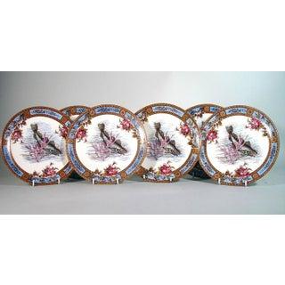 Fish Set of Six Garfield Pottery Earthenware Plates, Wood & Hulme.