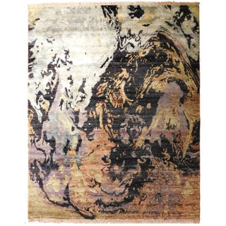 "Modern Hand-Knotted Luxury Rug - 8'1"" X 9'11"""