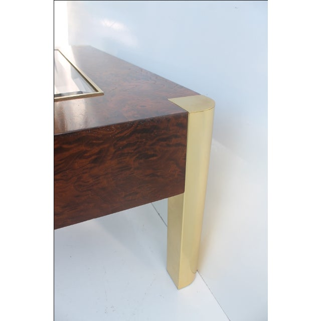 Century Furniture Burl & Brass Coffee Table - Image 9 of 10