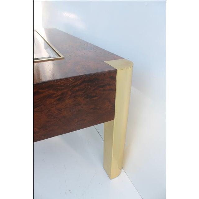 Image of Century Furniture Burl & Brass Coffee Table