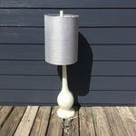 Image of Mid-Century Modern Milk Glass Lamp
