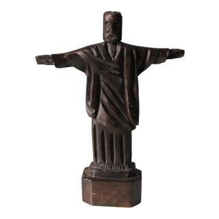 Rustic Folk Art Carved Wood Figure