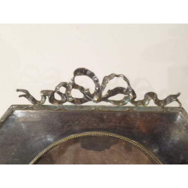 Large 19th Century Silverplate Picture Frame - Image 3 of 7