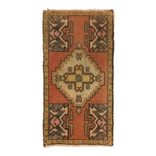 Handwoven Anatolian Oushak Floor Carpet - 1′7″ × 3′1″