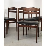 Image of Danish Modern Rosewood Dining Chairs - Set of 6