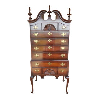 KINDEL Chippendale Style Mahogany Highboy Tall Chest