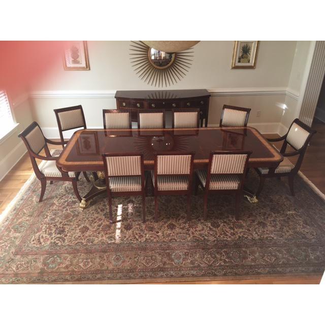 Baker Mahogany Dining Set - Set of 11 - Image 4 of 5