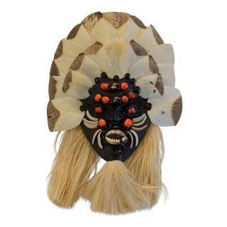 Brazilian Tribal Piranha Teeth & Fish Scale Mask