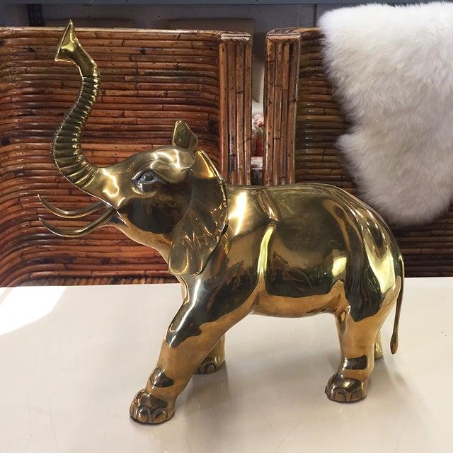 Large Brass Elephant - Image 3 of 5