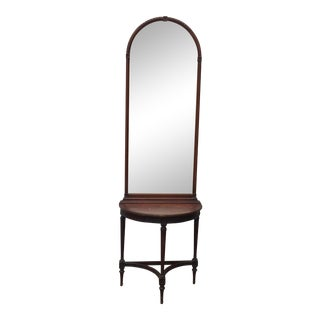 Imperial Mahogany Console Table with Mirror