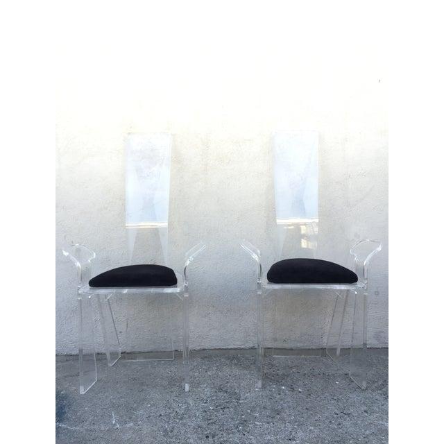 Image of Acrylic Mid-Century Italian Chairs - Set of 6