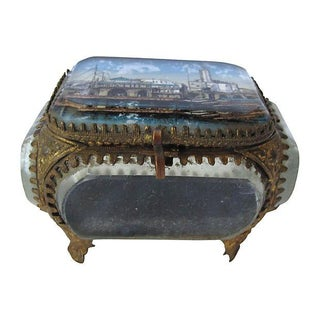 Antique French Souvenir of Algiers Jewelry Box