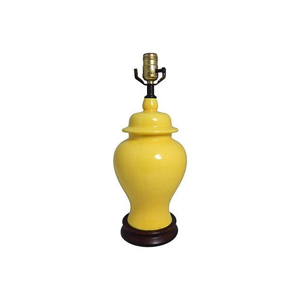 Yellow Ginger Jar Table Lamp - Image 6 of 7