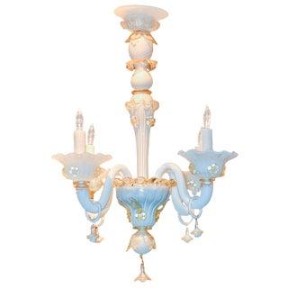 Antique Opalescent Venetian Chandelier