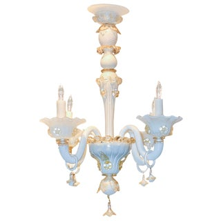 Antique Opalescent Venetian Chandelier