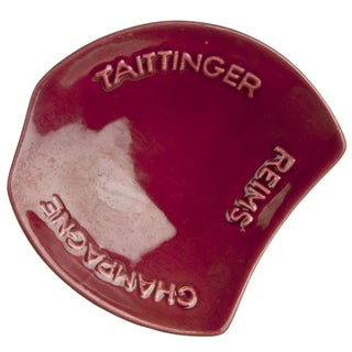 Red Taittinger Ashtray