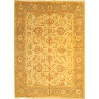 "Original Persian Sultanabad Hand-Knotted Lamb's Wool Rug, 8'5""x11'9"""