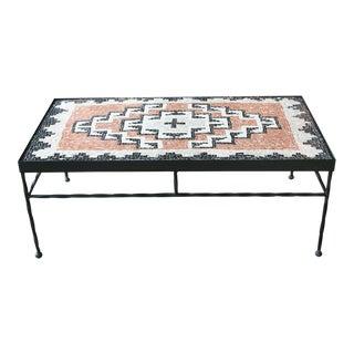 Navajo Crystal Region Style Table Mosaic by Anne Ziemienski