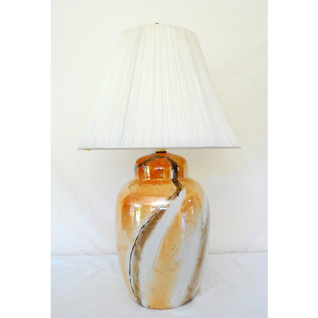 Vintage Faux Marble Ginger Jar Lamp Shade Chairish
