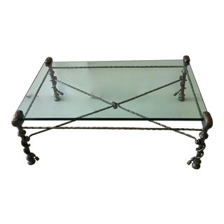 Giancometti Style Wrought Iron Coffee Table
