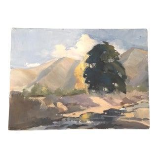 Wonderful Impressionistic Landscape Oil on Canvas