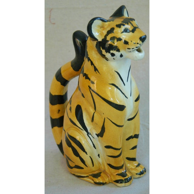Italian Hollywood Regency Tiger Pitcher - Image 2 of 8