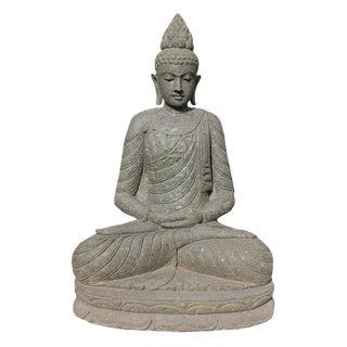 Green Stone Sitting Buddha