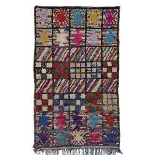 "Boucherouite Moroccan Carpet - 5'2""x3'2"""