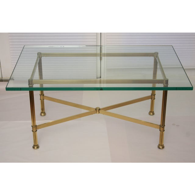 La Barge Style Brass Cocktail Table - Image 3 of 8
