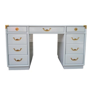 Drexel Accolade Hollywood Regency Campaign Desk