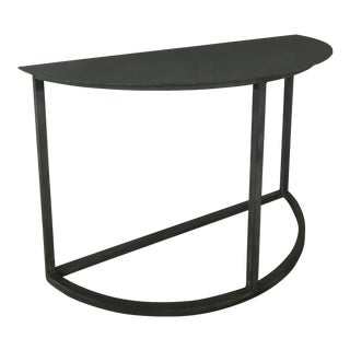 Contemporary Zinc Demi Lune Table