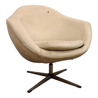 Mid-Century Danish Modern Overman Swivel Chair