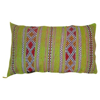 Moroccan Striped Green Pillow
