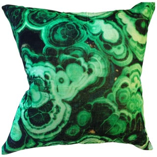 Malachite Printed Velvet Pillow