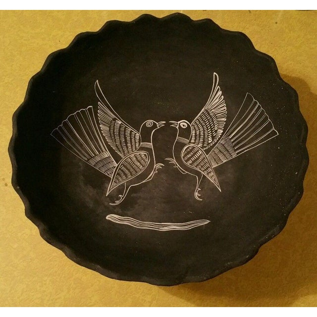 Mexican Handpainted Bowl With Birds, X. Guerrero - Image 2 of 8