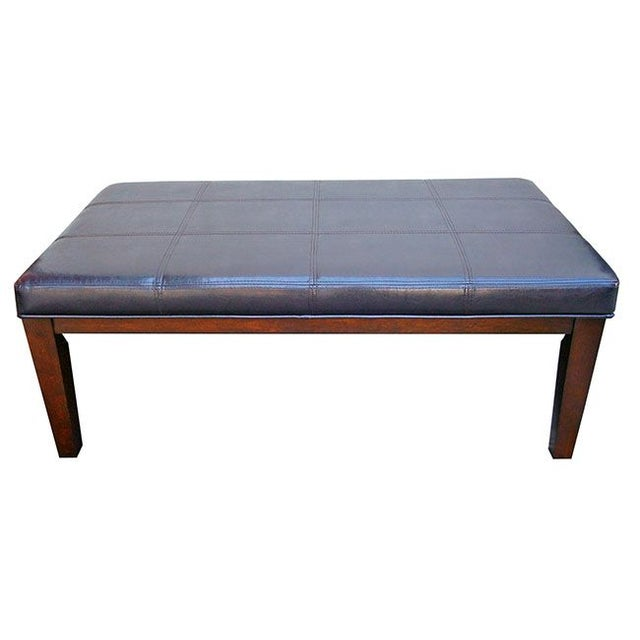 Leather Ottoman Coffee Table With Pullout Shelves Chairish