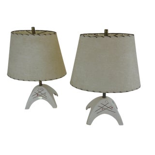 Royal Haeger Mid-Century Atomic Table Lamps - Pair