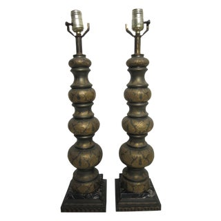 Boho Indian Table Lamps - Pair