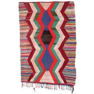 Moroccan Kilim Boucherouite Rug - 4′5″ × 6′9″