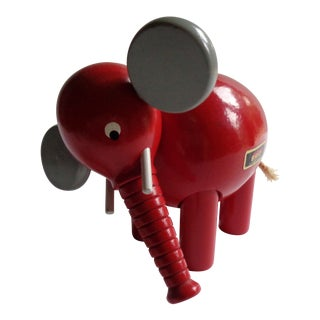 Vintage Brio Wooden Pull-Apart Elephant Toy