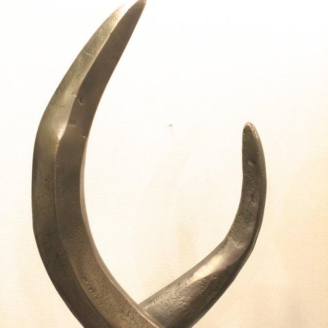 Image of Modern Antique Nickel Sculpture