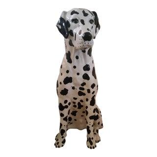 Vintage Dalmatian Dog Full Size Porcelain Statue