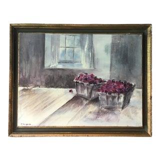"""Raspberries"" Original Still-Life Painting"
