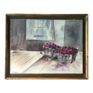 """Raspberries"" Original Still-Life Painting"