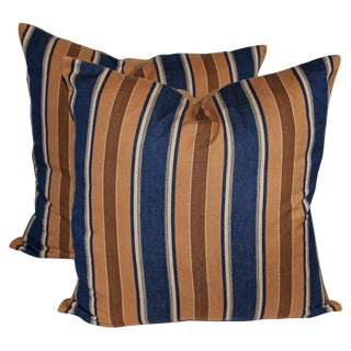 Pair of Vintage Ticking Pillows