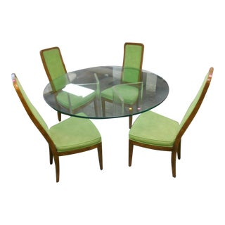 Henredon Mid-Century Lucite & Glass Dining Set - Set of 5